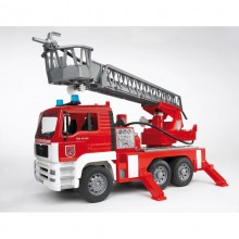 Camion Camion de pompier + echelle et lance incendie 1:16
