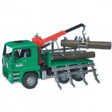 Camion MAN TGA camion forestier avec chargeur et 3 troncs 1:16