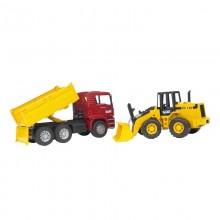 Camion MAN TGA camion de chantier et tracto pelle articule FR 130 1:16