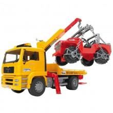 Camion MAN TGA camion depannage avec chargeur et vehicule tout terrain 1:16