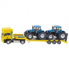 Camion Scania avec tracteurs New Holland 1:50