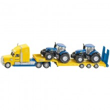 Camion Camion avec tracteurs New Holland 1:87