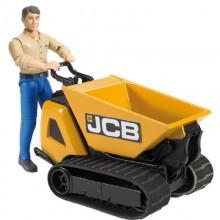 Equipements agricoles Benne de transport JCB HTD-5 et homme de chantier 1:16
