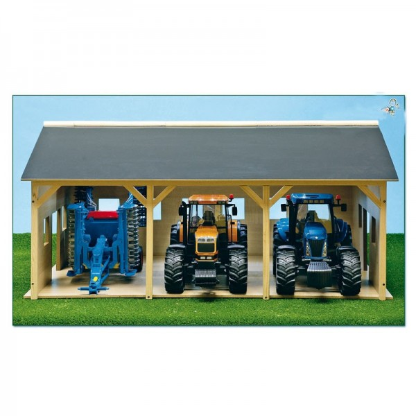 fermes hangar en bois pour 3 tracteurs 1 16 ets angelard. Black Bedroom Furniture Sets. Home Design Ideas