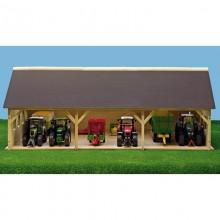 Fermes Hangar en bois pour 2 tracteurs 1:32
