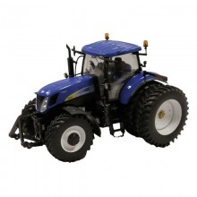 Tracteur New Holland T7050 avec roues jumelees arrieres 1:32