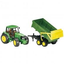 Tracteur avec accessoire John Deere 6920 avec remorque basculante 1:16