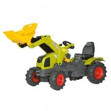 Tracteur avec accessoire Claas Axos 340 avec chargeur et pneus souples