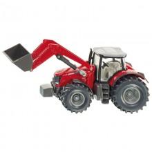 Tracteur avec accessoire Massey Ferguson avec chargeur frontal 1:50