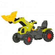 Tracteur avec accessoire Claas Axos avec chargeur