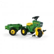 Tracteur avec accessoire John Deere tracteur, remorque + volant sonore