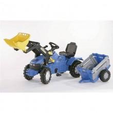 Tracteur avec accessoire New Holland TM175+chargeur+NH mono-axe 3+