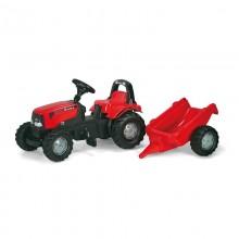 Tracteur avec accessoire RollyKid Case + remorque (2ans et demi+)