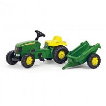 Tracteur avec accessoire RollyKid John Deere+remorque (2ans et demi+)