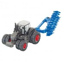 Tracteur avec accessoire Fendt 939 Vario avec charrue 1:87