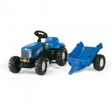 Tracteur avec accessoire RollyKid New Holland TVT 190+remorque (2ans et demi+)