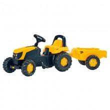 Tracteur avec accessoire RollyKid JCB+remorque (2ans et demi+)