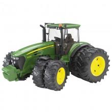 Jouet Tracteur avec accessoire John Deere 7930 a roues jumelees 1:16