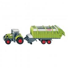 Jouet Tracteur avec accessoire Claas avec tremie  de chargement 1:87