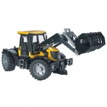 Jouet Tracteur avec accessoire JCB Fastrac 3220 avec chargeur 1:16