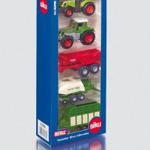 Jouet Tracteur avec accessoire Coffret cadeau 5 machines agricoles  1:87