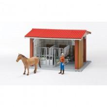 Jouet agricole Bworld Box avec figurine, cheval et accessoires 1:16