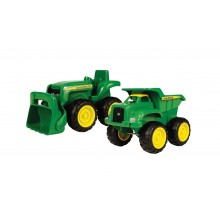 John Deere Mini Sand Pit Tractor and Dump Truck Set
