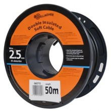 Cable doublement isole 2,5mm souple 50 m/rouleau