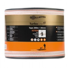 Gallagher Ruban TurboLine 20mm 200m, Blanc