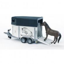 Accessoire Remorque a chevaux + 1 cheval 1:16