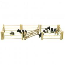 Accessoire Barriere en bois 6 pieces, barriere incluse, 1:32