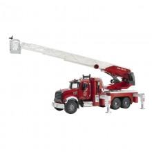 Camion Camion de pompier Mack Granite avec echelle montante et lance a incendie 1:16